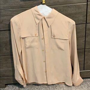 Kate spade silk blush blouse